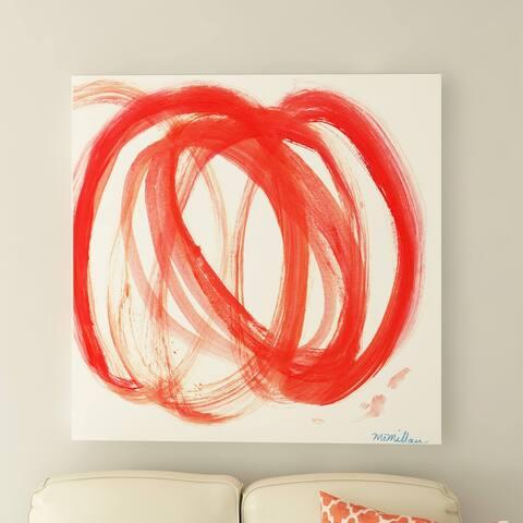 Porch & Den Orange Swirl I' Canvas by Dana McMillan