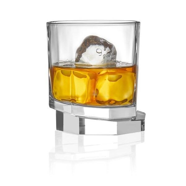 JoyJolt Octagon Aqua Vitae 10.5 oz Crystal Whiskey Glass, Set of two Off Base Old Fashioned Glasses. Opens flyout.
