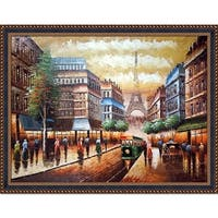 Buggy Ride Through Paris' Hand Painted Oil Reproduction