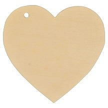 "20 Pcs of 3-3/4"" Heart Gift Tag"
