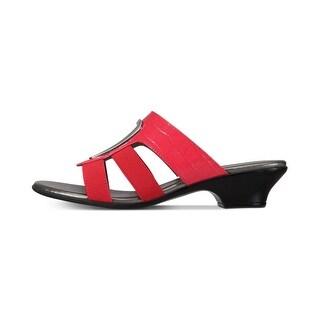 Link to Karen Scott Womens Engle Fabric Open Toe Casual Slide Sandals Similar Items in Women's Shoes