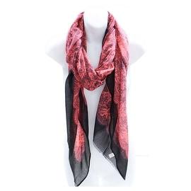 Lace Print Neon Lightweight Blanket Scarf Shawl