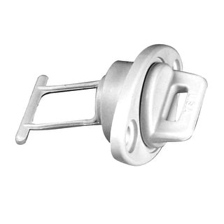 """Beckson 1"""" Drain Plug Screw Type w/Gasket - White"""