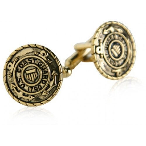 USCG Coast Guard Cufflinks Gold Military