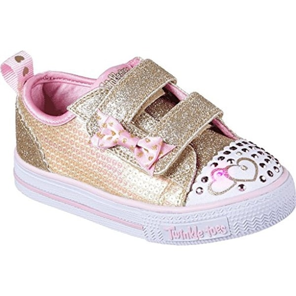 Shop Skechers Twinkle Toes Shuffles Itsy Bitsy Girls Light Up Sneakers  Gold Pink 11 - Free Shipping Today - Overstock.com - 25587644 c8d86a5dbd5f