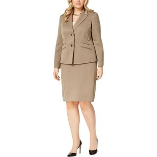 Le Suit Womens Two-Button Blazer Melange Work Wear