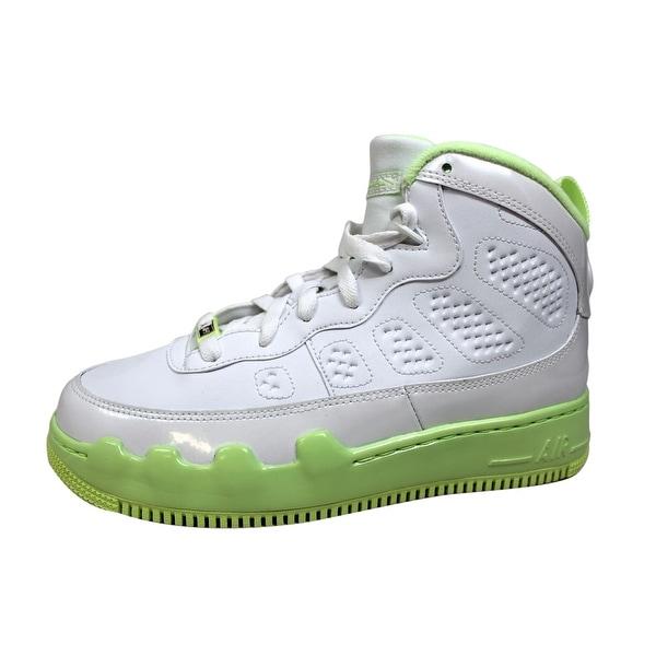 789aee597b4 Nike Grade-School AJF 9 Air Jordan Fusion White/White-Liquid Lime 353327