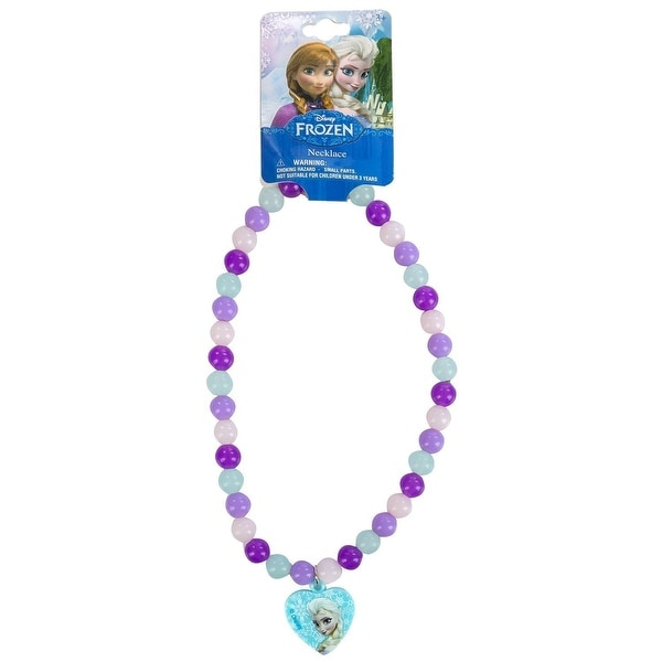 Frozen Beaded Rainbow Necklace w/ Plastic Charm
