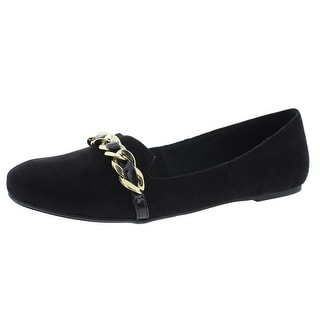 Madeline Womens Sunday Best Faux Suede Slip On Smoking Loafers