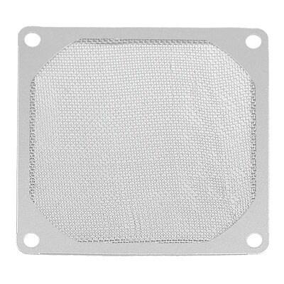 Unique Bargains Computer PC 80mm Dustproof Aluminum Fan Filter Mesh Silver Tone