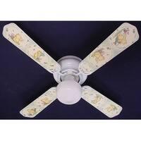 Classic Green Winnie the Pooh Print Blades 42in Ceiling Fan Light Kit - Multi