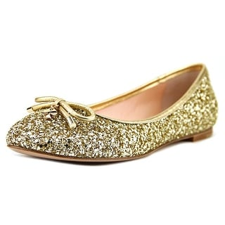 Kate Spade Willa Women Round Toe Synthetic Gold Flats