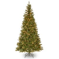 7' Pre-Lit Aspen Spruce Artificial Christmas Tree - Clear Lights - green