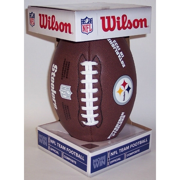 Wilson Pittsburgh Steelers Full Size Composite NFL Football F1748