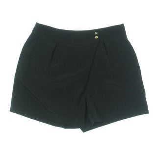 Calvin Klein Womens Faux-Wrap Pleated Dress Shorts - 2