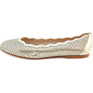 French Sole Womens Nymph Leather Round Toe Ballet Flats