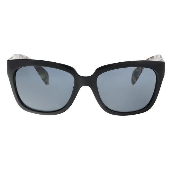 23a6821a9c05 Shop Prada PR07PS 1AB5Z1 Black Rectangle Sunglasses - 56-18-140 ...