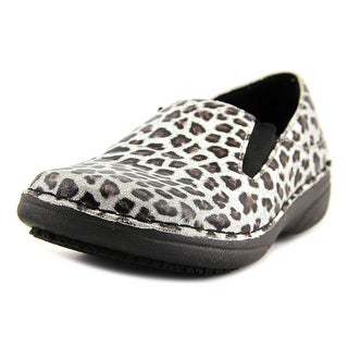 Spring Step Freop Women  Round Toe Leather Silver Clogs