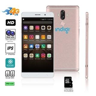 Indigi Unlocked 4G LTE 6-inch Android 7.0 Octa-Core 1.3GHz SmartPhone (Fingerprint Scanner + 2SIM Slots) + 32gb microSD