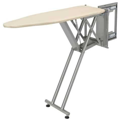 """Rev-A-Shelf CPUIBSL-14-1 Sidelines 43"""" Pop-Up Ironing Board with Soft - Silver"""