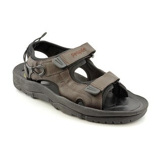 Propet Surf Walker Men  Open-Toe Leather Black Sport Sandal