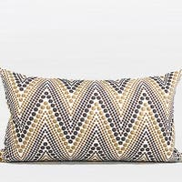 "G Home Collection Luxury Metallic Big Chevron Embroidered Pillow 12""X20"""