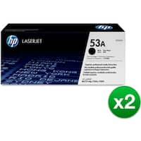 HP 53A Black Original LaserJet Toner Cartridge (Q7553A)(2-Pack)