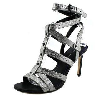 Elie Tahari Ipanema Women Open Toe Leather Silver Sandals
