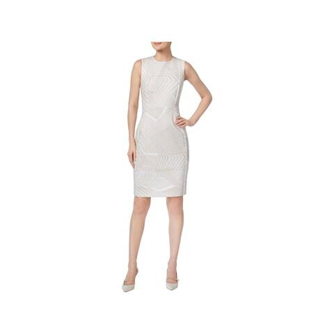 Calvin Klein Womens Cocktail Dress Printed Sleeveless
