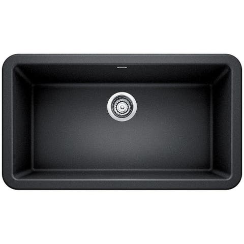 "Blanco 401895 Ikon 33"" Silgranit Granite Composite Farmhouse Apron Front Single Bowl Kitchen Sink"