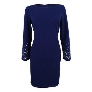 Link to Jessica Howard Women's Petite Grommet-Sleeve Sheath Dress - Navy Similar Items in Petites