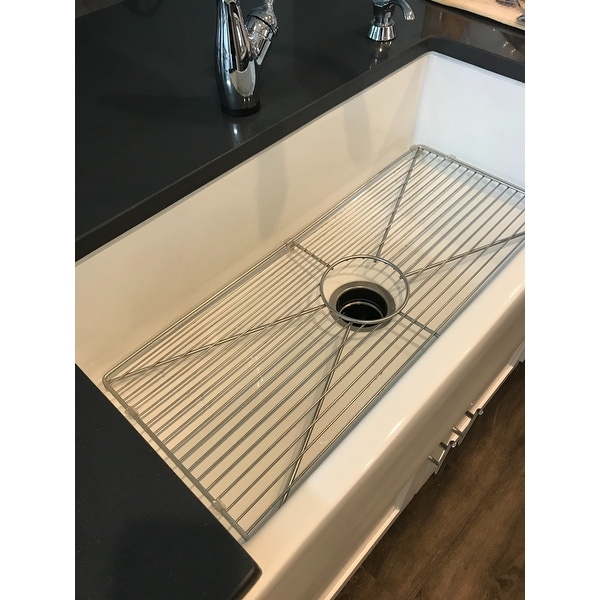 Single Tub Kitchen Sink Highpoint collection white 36 inch single bowl rectangle fireclay highpoint collection white 36 inch single bowl rectangle fireclay farmhouse kitchen sink free shipping today overstock 17471035 workwithnaturefo