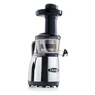 Omega Juicers VRT380HDC Vertical Masticating Juicer with Handle, Chrome & Black