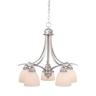 Vaxcel Lighting AL-CHD005 Avalon 5 Light Single Tier Chandelier with Frosted Glass Shades - 24.5 Inches Wide