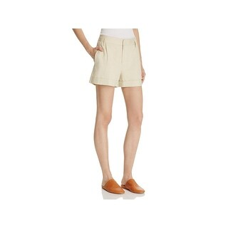 Vince Womens Casual Shorts Linen Pleated