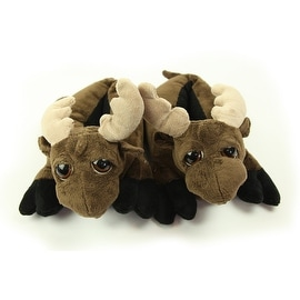Fuzzy Moose Slippers Medium