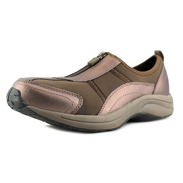 Easy Spirit Walk 4 Zip Round Toe Leather Walking Shoe