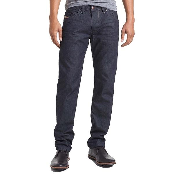 debd6463 Shop Diesel Men's Regular Slim-Tapered Belther 0088Z Jean Pants Dark Blue -  40 - Free Shipping Today - Overstock - 25696037