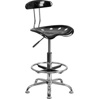 Brittany Black Professional Drafting Stool w/Tractor Seat