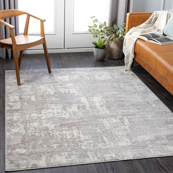 Dallin Distressed Modern Area Rug. Opens flyout.