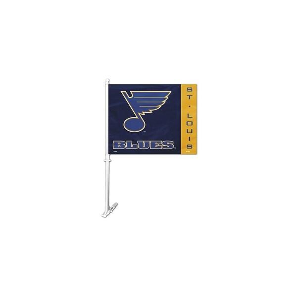 Fremont Die Inc St Louis Blues Car Flag With Wall Brackett Car Flag