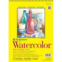 "Strathmore Watercolor Paper Pad 11""X15""-140Lb Cold Press 12 Sheets"
