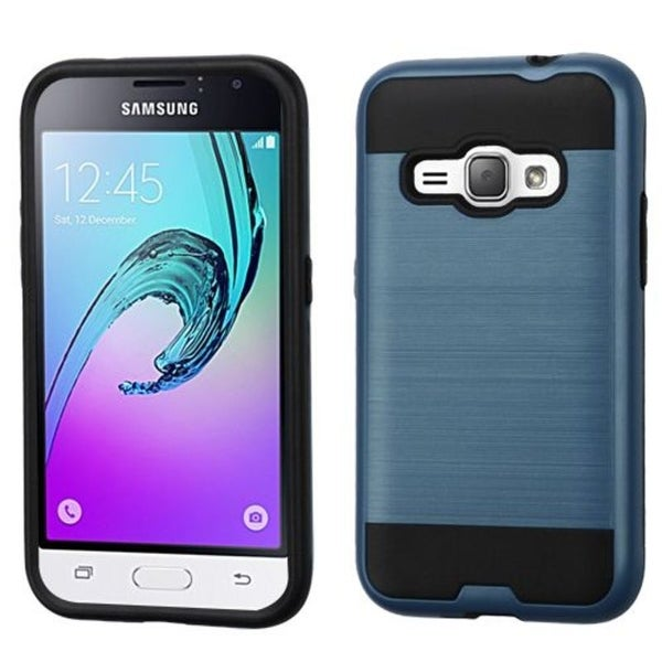 Insten Dual Layer Hybrid Rubberized Hard PC/ Silicone Case Cover For Samsung Galaxy Amp 2/ J1 2016 Version