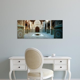 Easy Art Prints Panoramic Images's 'Interiors of a medersa, Medersa Bou Inania, Fez, Morocco' Premium Canvas Art