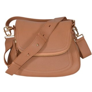 "Tom Ford Women's Tan Leather JENNIFER Crossbody Saddle Bag Purse - whiskey beige - 12.7"" (w) x 9.6"" (h) x 6"" (d)"