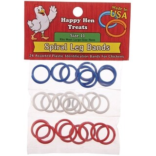 Happy Hen Treats 17022 Spiral Leg Bands, Size 11, Assorted Color