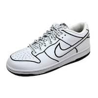 Nike Women's Dunk Low 1 Piece White/White-Black 317857-111