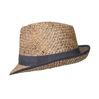Colored Straw Fedora with Black Lining
