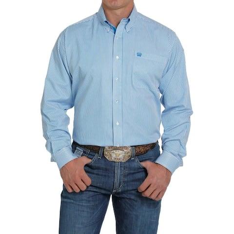 Cinch Western Shirt Mens L/S Contrast Trim Button Stripe