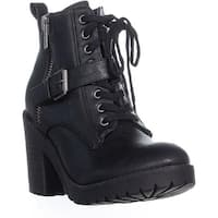 Rampage Haydee Lace Up Combat Boots, Black